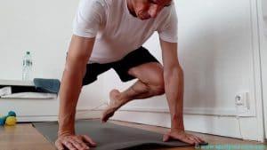 Gainage ventral dynamique genoux abdos
